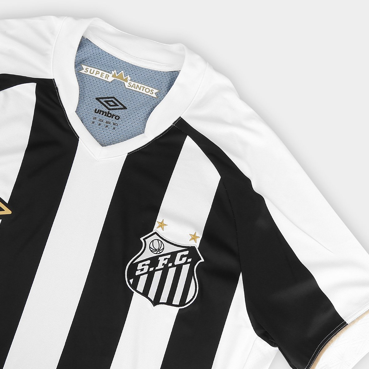efc9dddce6 Camisa Santos II 2018 s n° Torcedor Umbro Masculina - Branco e Preto ...