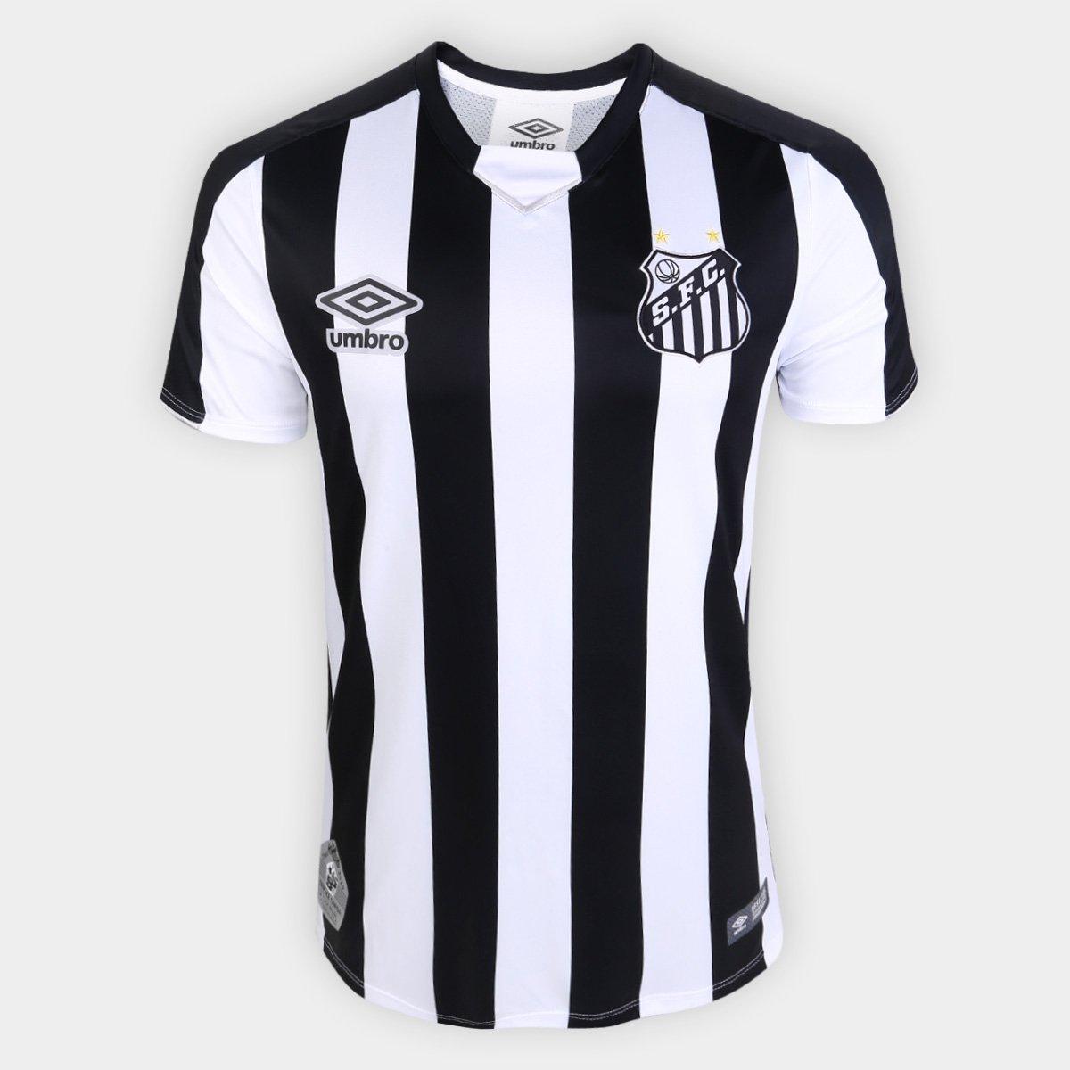 0c92acb739c53 Camisa Santos II 2019 s n° Torcedor Umbro Masculina - Branco e Preto -  Compre Agora