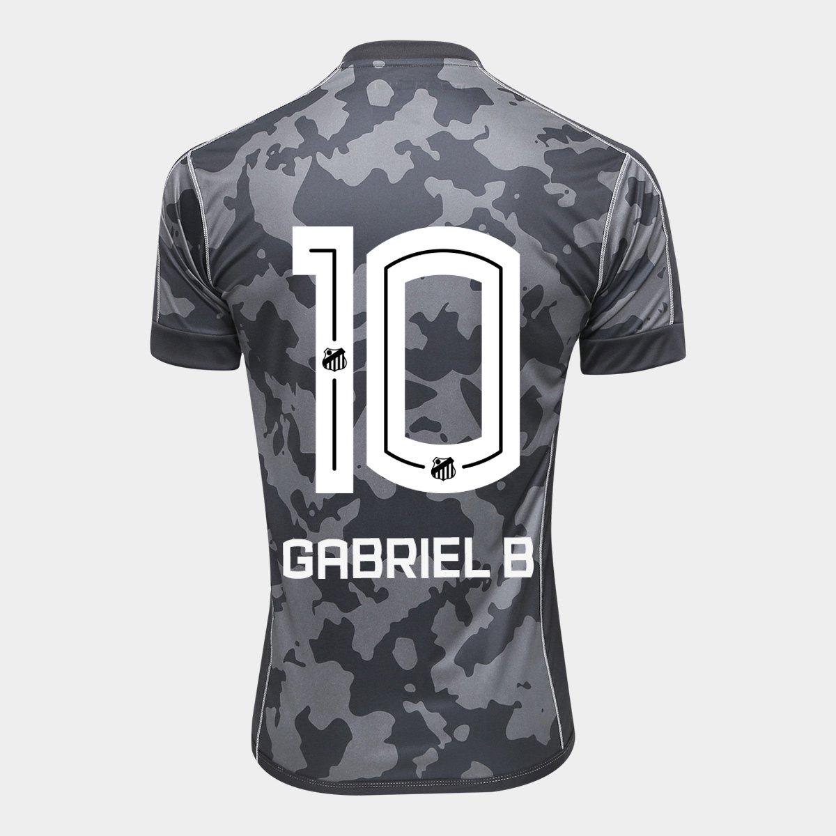 Camisa Santos III 17 18 nº 10 Gabriel B - Torcedor Kappa Masculina - Compre  Agora  79c7bf1b97b83