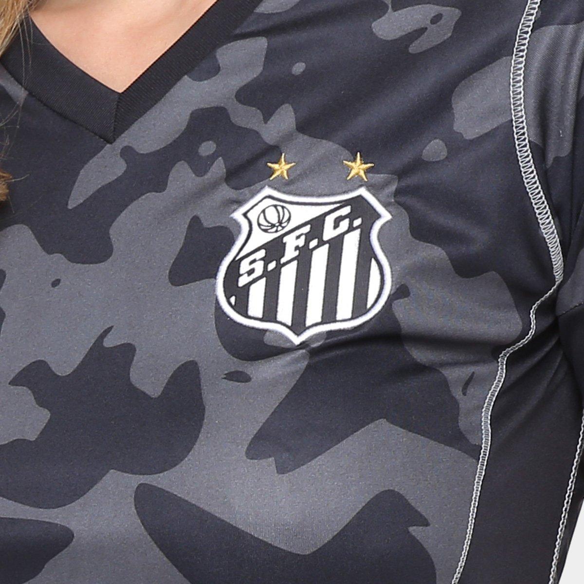 n° Camisa Feminina s 18 17 Preto Santos Torcedor Kappa III rqwCXxPq