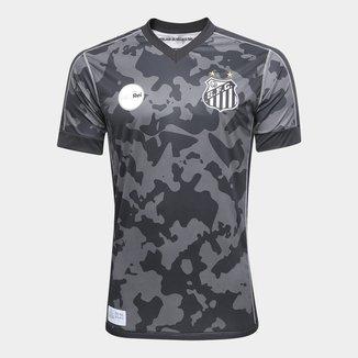 Camisa Santos III 17/18 s/n° - Torcedor Kappa Masculina