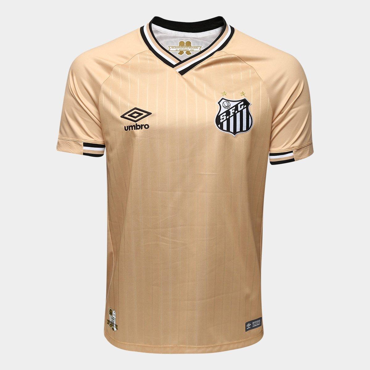 1b2960134e Camisa Santos III 2018 s n° - Torcedor Umbro Masculina - Dourado ...