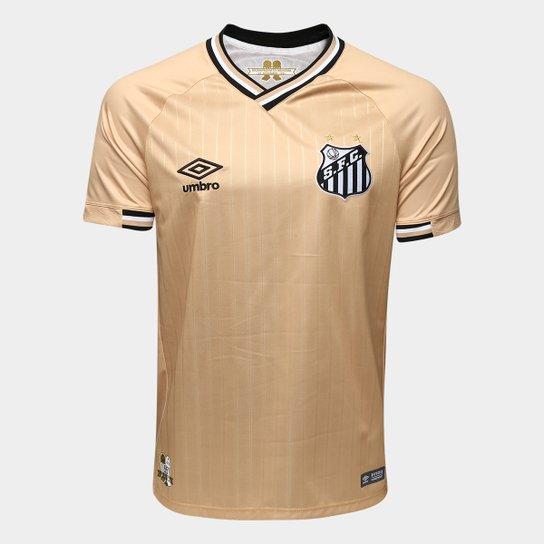 Camisa Santos III 2018 s/n° - Torcedor Umbro Masculina - Dourado