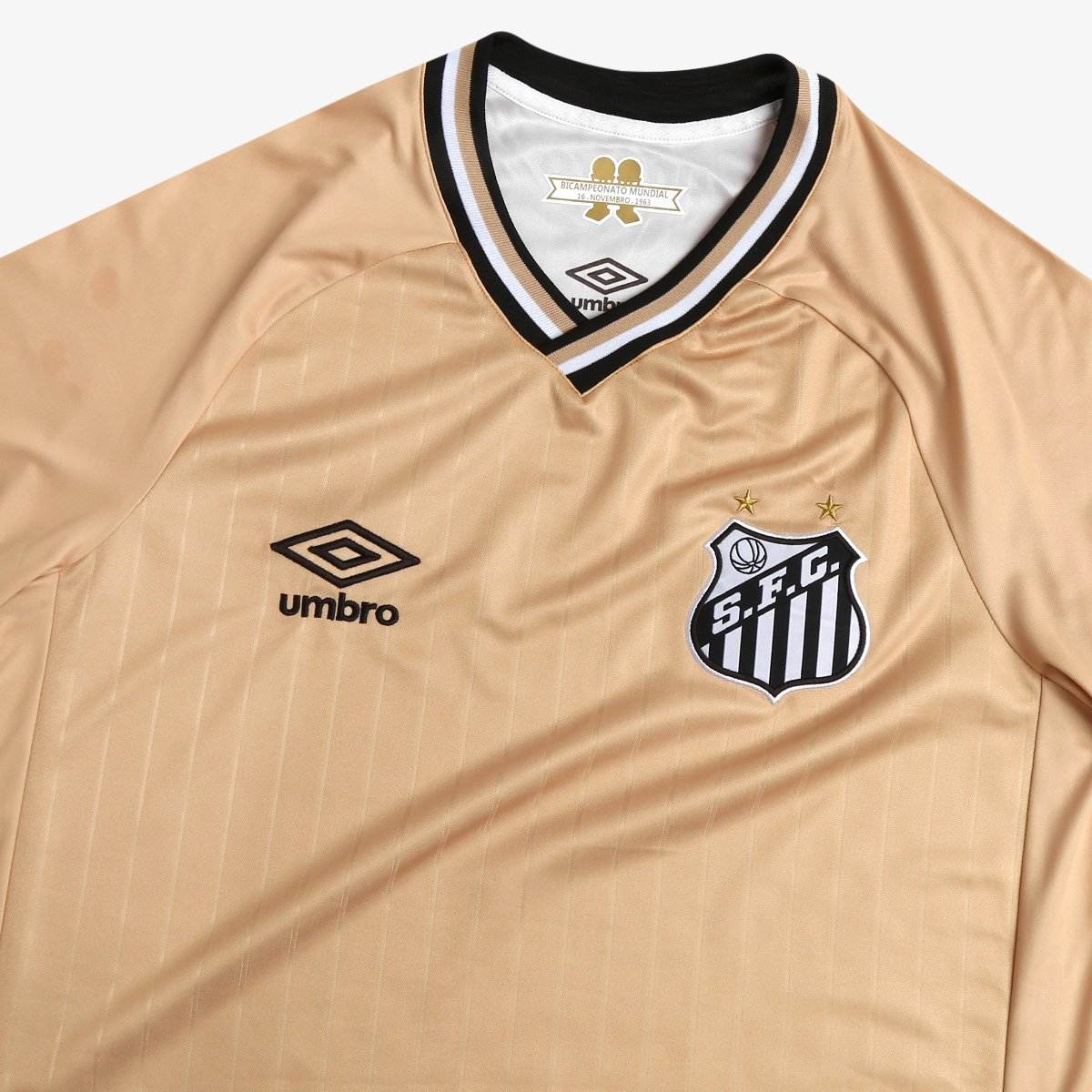 f81f117119 Camisa Santos III 2018 s n° - Torcedor Umbro Masculina - Dourado ...