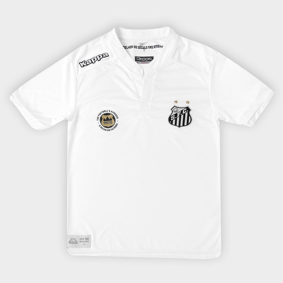 Camisa Santos Infantil I 2016 s nº Torcedor Kappa - Compre Agora ... 01be6421b31e8