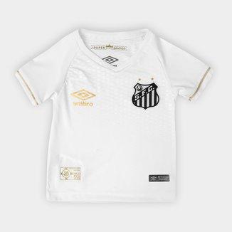Camisa Santos Infantil I 2018 s/n° Torcedor Umbro