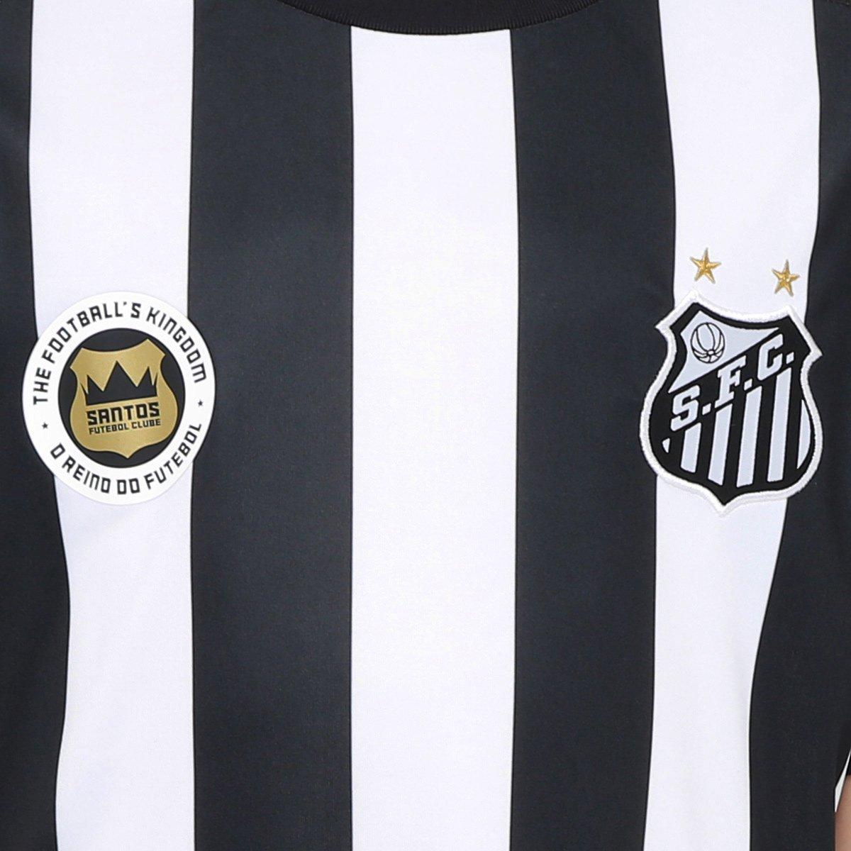 c69735f9b2 Camisa Santos Infantil II 17 18 s nº Réplica Torcedor Kappa - Compre ...