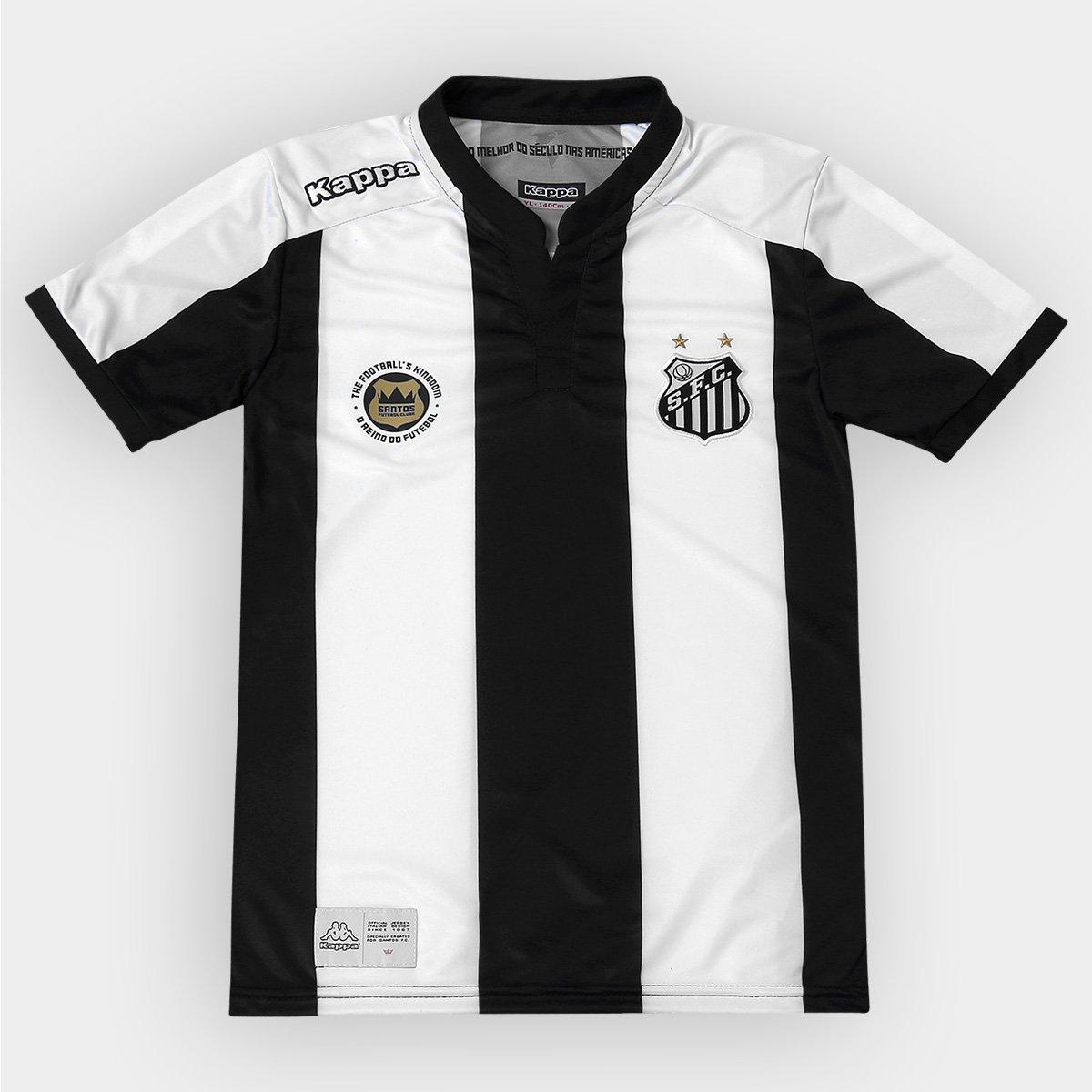 Camisa Santos Infantil II 2016 s nº - Torcedor Kappa - Compre Agora ... 358fe78a11e40