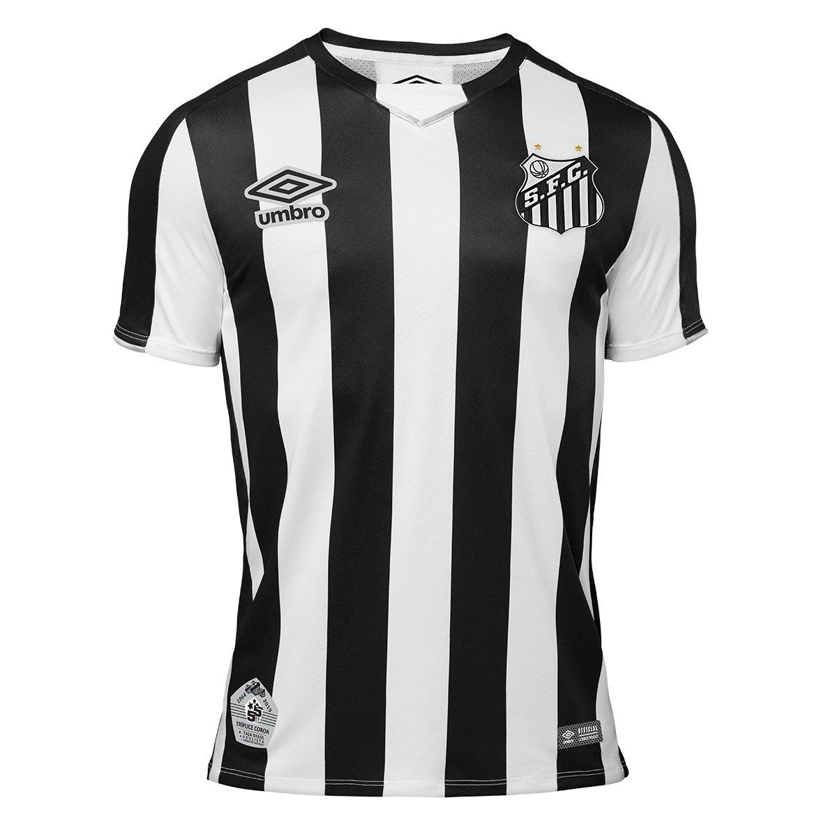 4317101750c47 Camisa Santos Infantil II 2019 s nº Torcedor Umbro - Preto e Branco - Compre  Agora