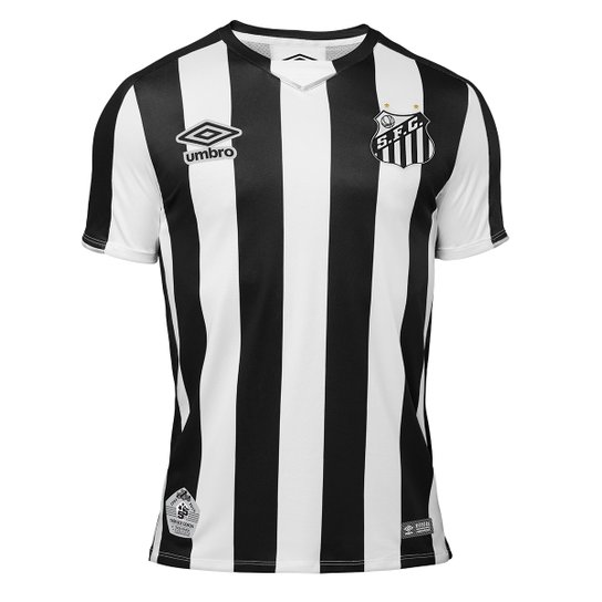 Camisa Santos Infantil II 2019 s/nº Torcedor Umbro - Preto+Branco