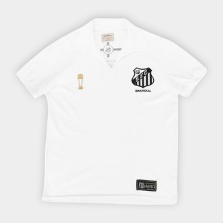 Camisa Santos Juvenil 1963 Bi Mundial Retrô Mania