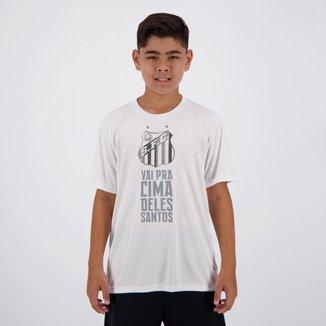 Camisa Santos Moment Infantil Branca
