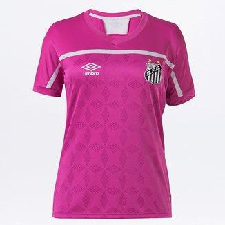 Camisa Santos Outubro Rosa 20/21 s/nº Torcedor Umbro Feminina