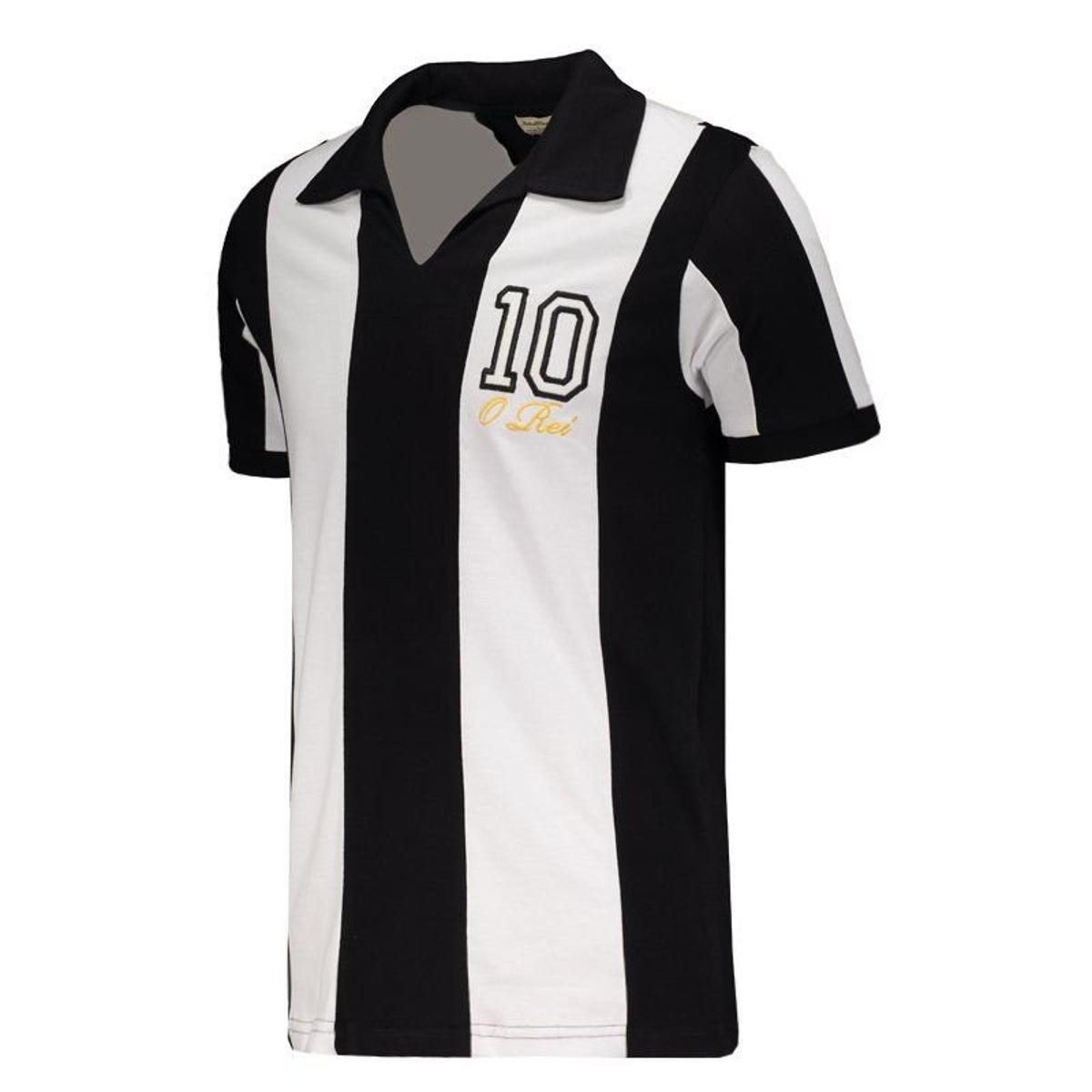 8dd90fbd13 Camisa Santos Retrô O Rei Masculina - Preto - Compre Agora
