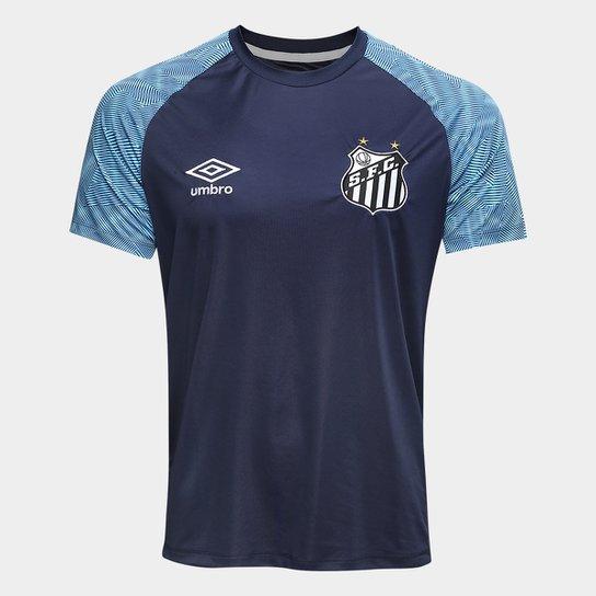 Camisa Santos Treino 2018 Umbro Masculina - Marinho+Azul