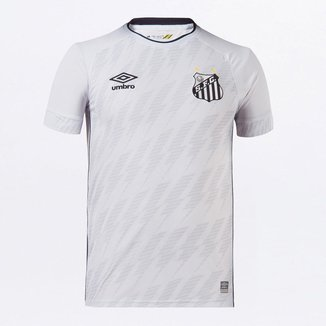 Camisa Santos Umbro 21/22 s/n° Torcedor Masculina Branco e Preto