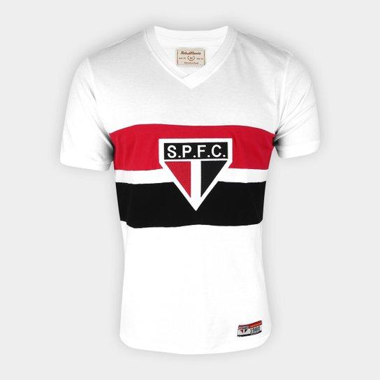 Camisa São Paulo 1980 Retrô Mania Masculina - Branco