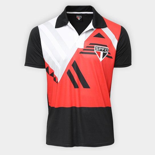 Camisa São Paulo 1992  - Edição Limitada Masculina - Preto+Vermelho