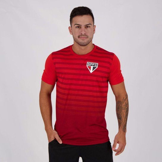 Camisa São Paulo Croma  Masculina - Vermelho
