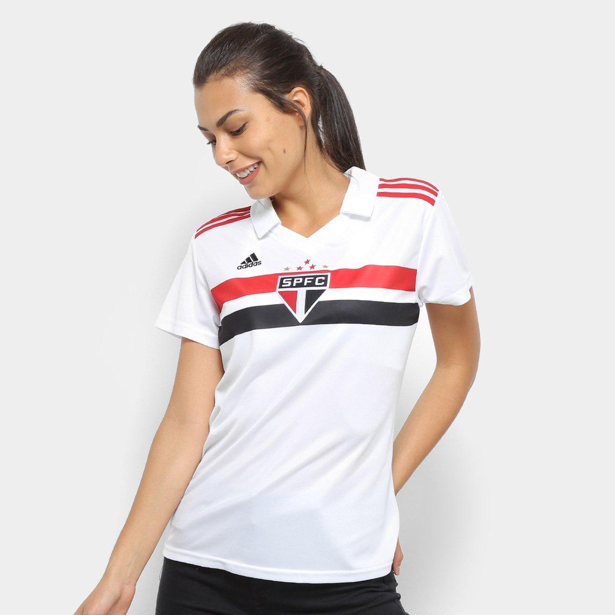 Paulo Feminina n° Adidas e Camisa s Vermelho Branco Torcedor São 2018 I Fa8XnU5q