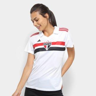 Camisa São Paulo I 2018 s/n° Torcedor Adidas Feminina