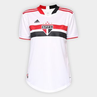 Camisa São Paulo I 21/22 s/n° Torcedor Adidas Feminina