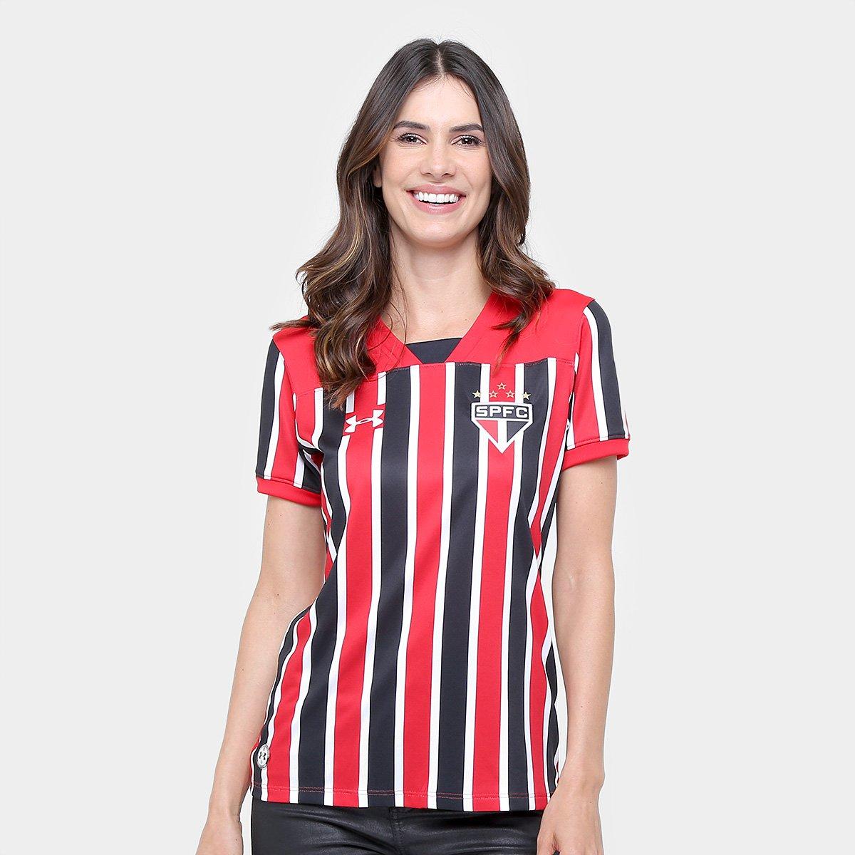17 Vermelho II nº Camisa e 18 Feminina Under São Paulo Torcedor Armour Preto s qt4w6PEw