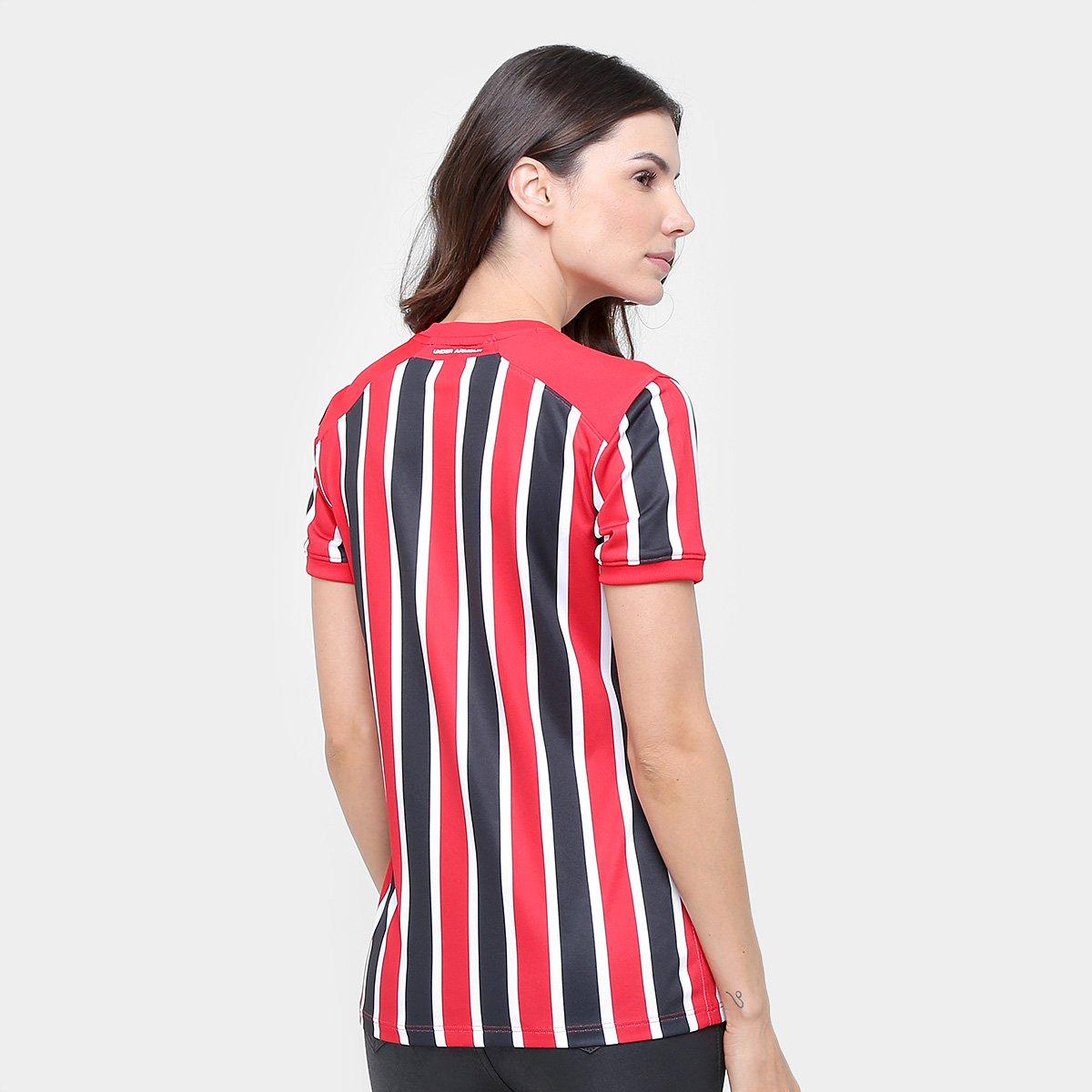 17 Paulo Vermelho 18 Camisa e Feminina Preto Torcedor Armour Under São II nº s PtP54w1Aq