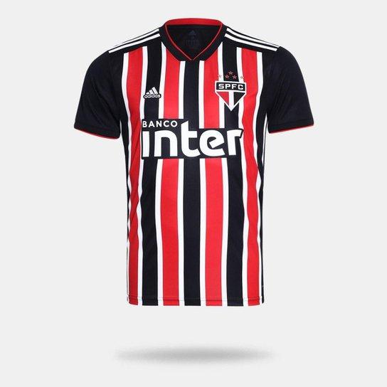 Camisa São Paulo II 2018 s/n° Torcedor Adidas Masculina - Vermelho+Branco