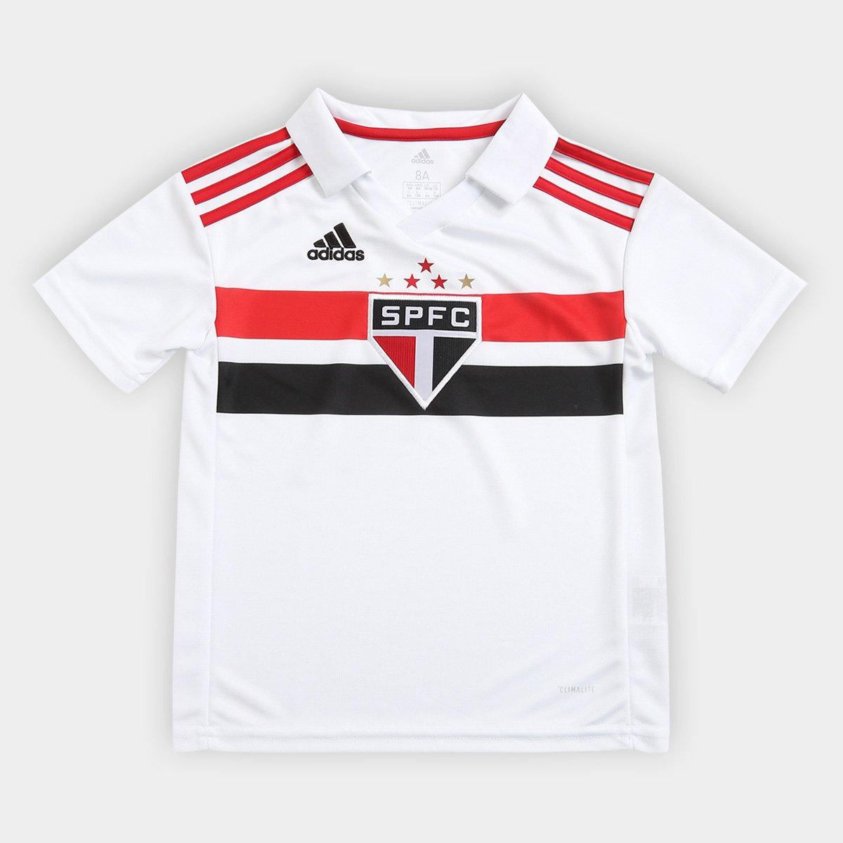 Camisa s e Vermelho Paulo n° São Torcedor Adidas Infantil I 2018 Branco  rXrvP ... 3267f4603b26b