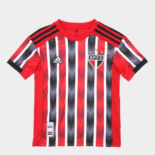 Camisa São Paulo Infantil II 19/20 s/nº Torcedor Adidas - Vermelho+Branco