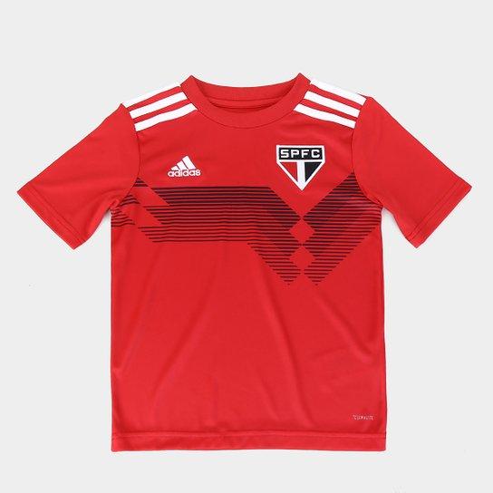 Camisa São Paulo Infantil Treino 70 Anos Adidas - Vermelho