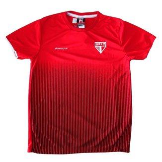 Camisa São Paulo Infantil Vermelha Braziline Oficial