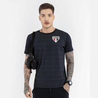 Camisa São Paulo Meia Malha Listras