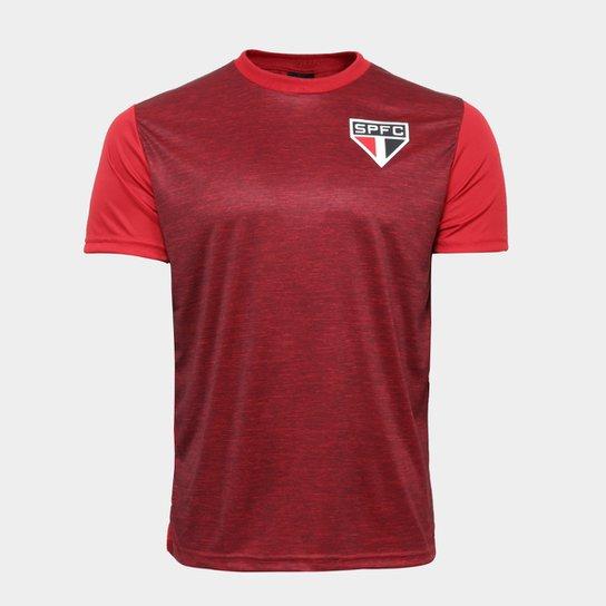 Camisa São Paulo Mescla Masculina - Vermelho