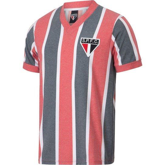 Camisa São Paulo Retrô 1977 Masculina - Vermelho