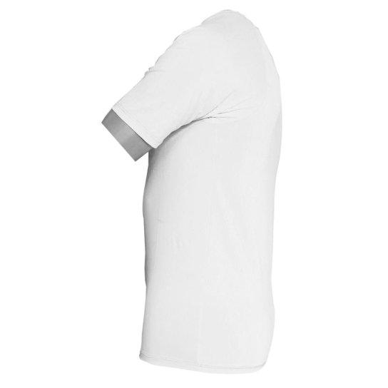 Camisa Segunda Pele Manga Curta em Poliamida C/ Elastano UV - Branco
