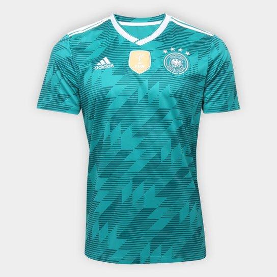 Camisa Seleção Alemanha Away 18/19 s/n° Torcedor Adidas Masculina - Verde