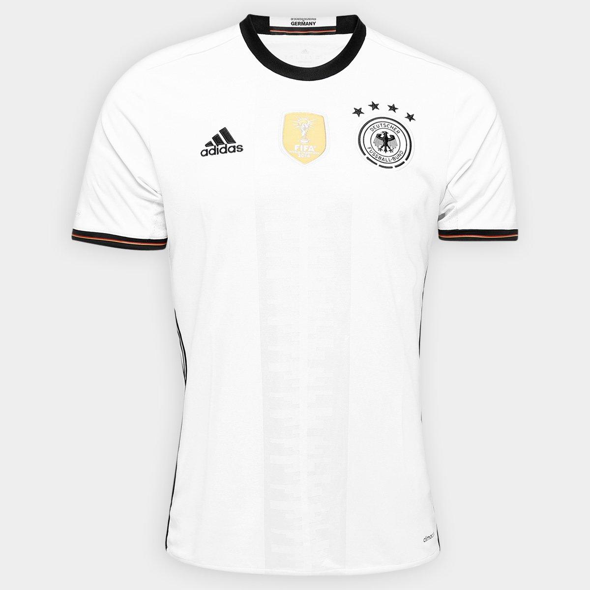 Camisa Seleção Alemanha Home 2016 s nº Torcedor Adidas Masculina ... 336189e79f7b6