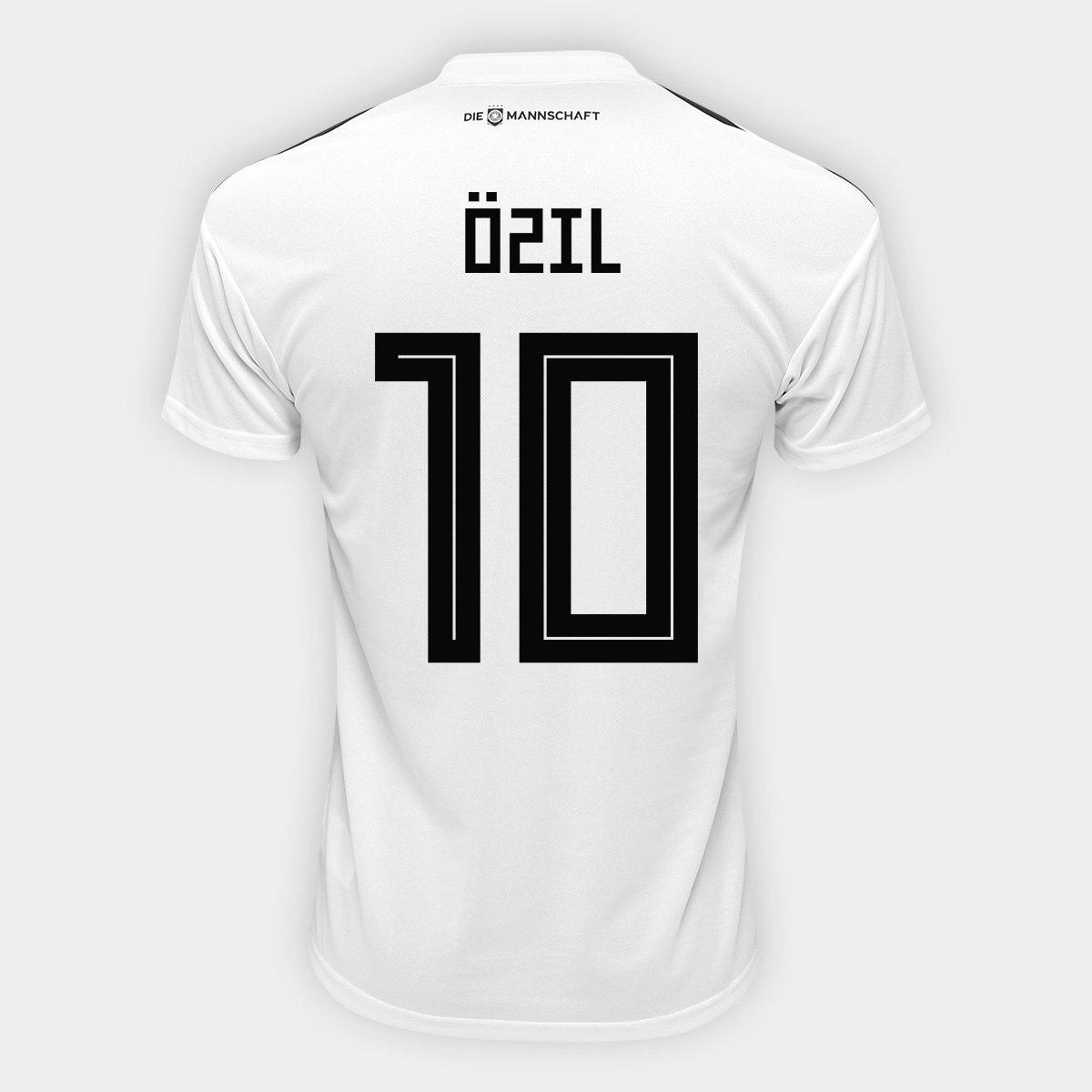 478be1e1f1182 Camisa Seleção Alemanha Home 2018 n° 10 Özil - Torcedor Adidas Masculina -  Compre Agora