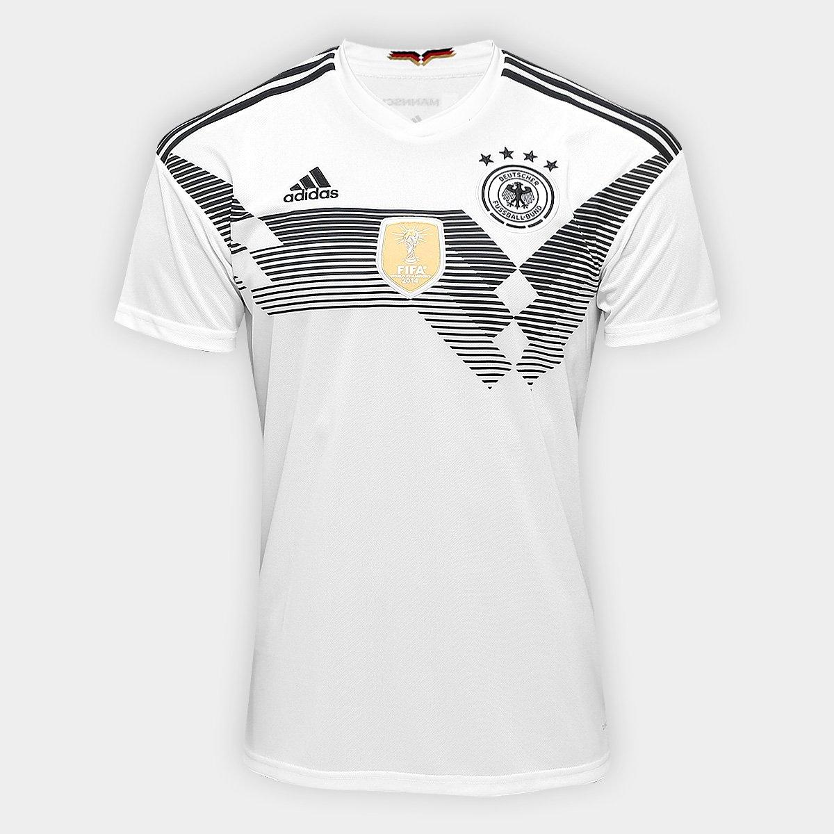 ... Camisa Seleção Alemanha Home 2018 n° 10 Özil - Torcedor Adidas  Masculina ... e3f48ac046f62