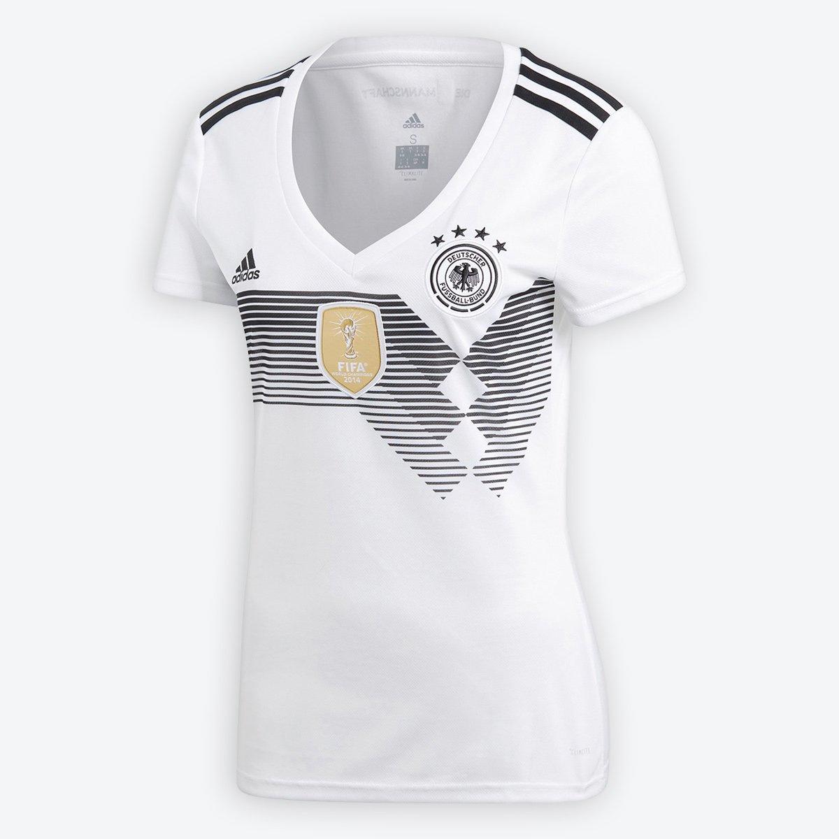 Camisa Seleção Home Alemanha Home Seleção 2018 s n° Torcedor Adidas  Feminina d23f4a a57d38af3c1c4