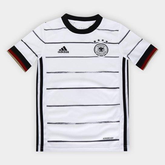 Camisa Seleção Alemanha Infantil Home 20/21 s/nº Torcedor Adidas - Branco