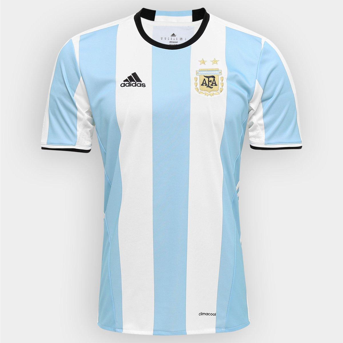 Camisa Seleção Argentina Home 2016 s nº Torcedor Adidas Masculina - Compre  Agora  c9df905318b5d