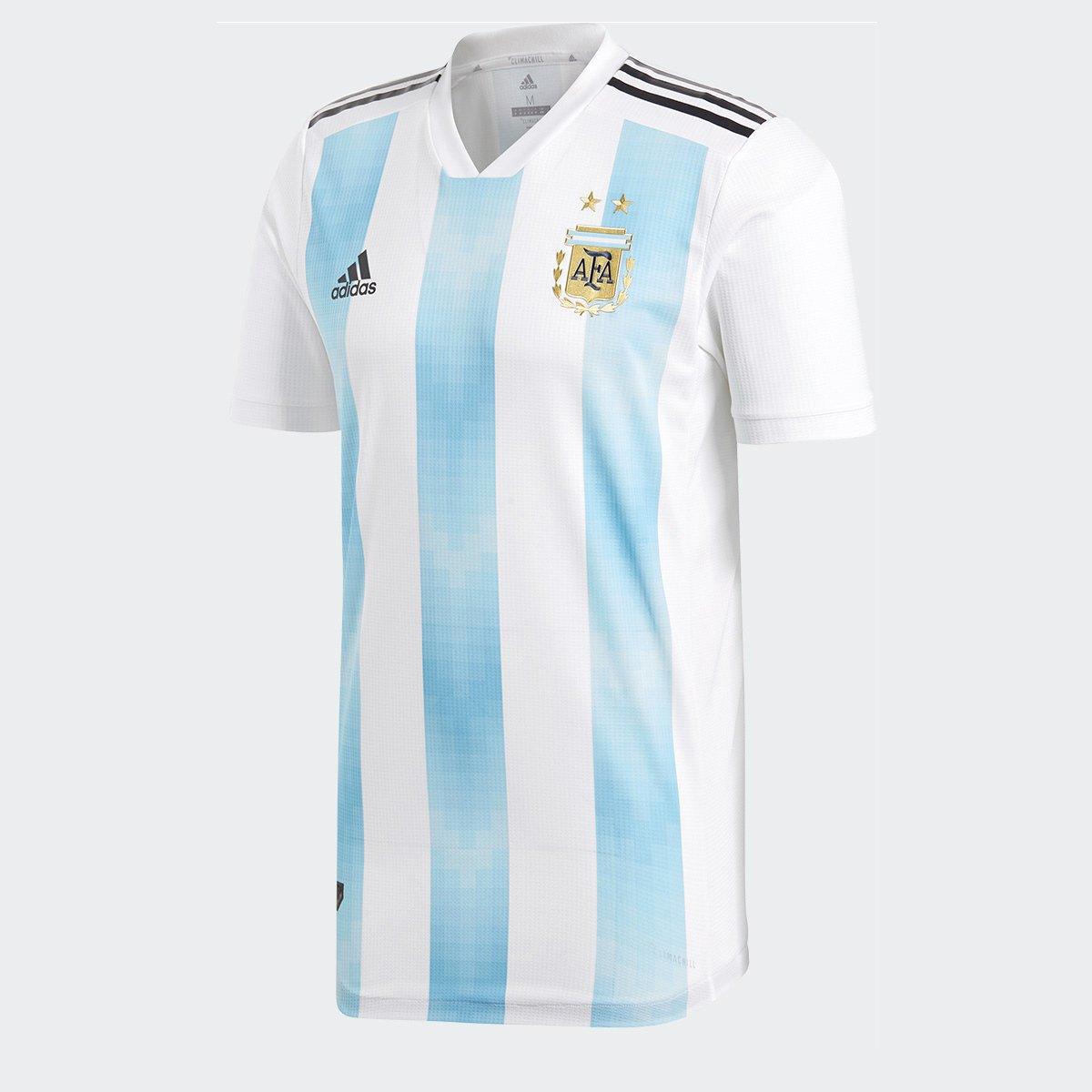 Camisa Seleção Argentina Home 2018 s n° Jogador Adidas Masculina - Branco e  Azul Claro - Compre Agora  0116fd5c670