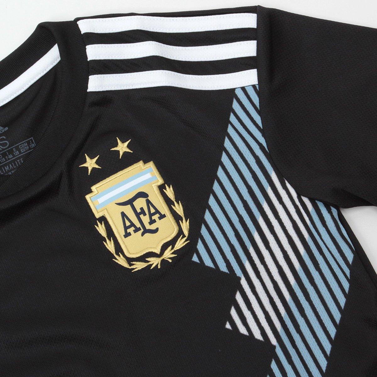 Adidas Infantil 21 Preto e Argentina Dybala Camisa Torcedor n° Branco Seleção Away 2018 qFzTvEwAU