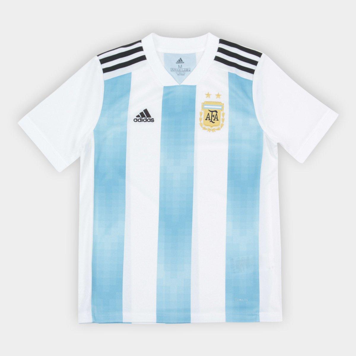e62370a403 ... Camisa Seleção Argentina Infantil Home 2018 n° 10 Messi - Torcedor  Adidas ...
