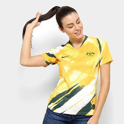 Camisa Seleção Austrália Home 19/20 s/nº Torcedora Nike Feminina - Feminino