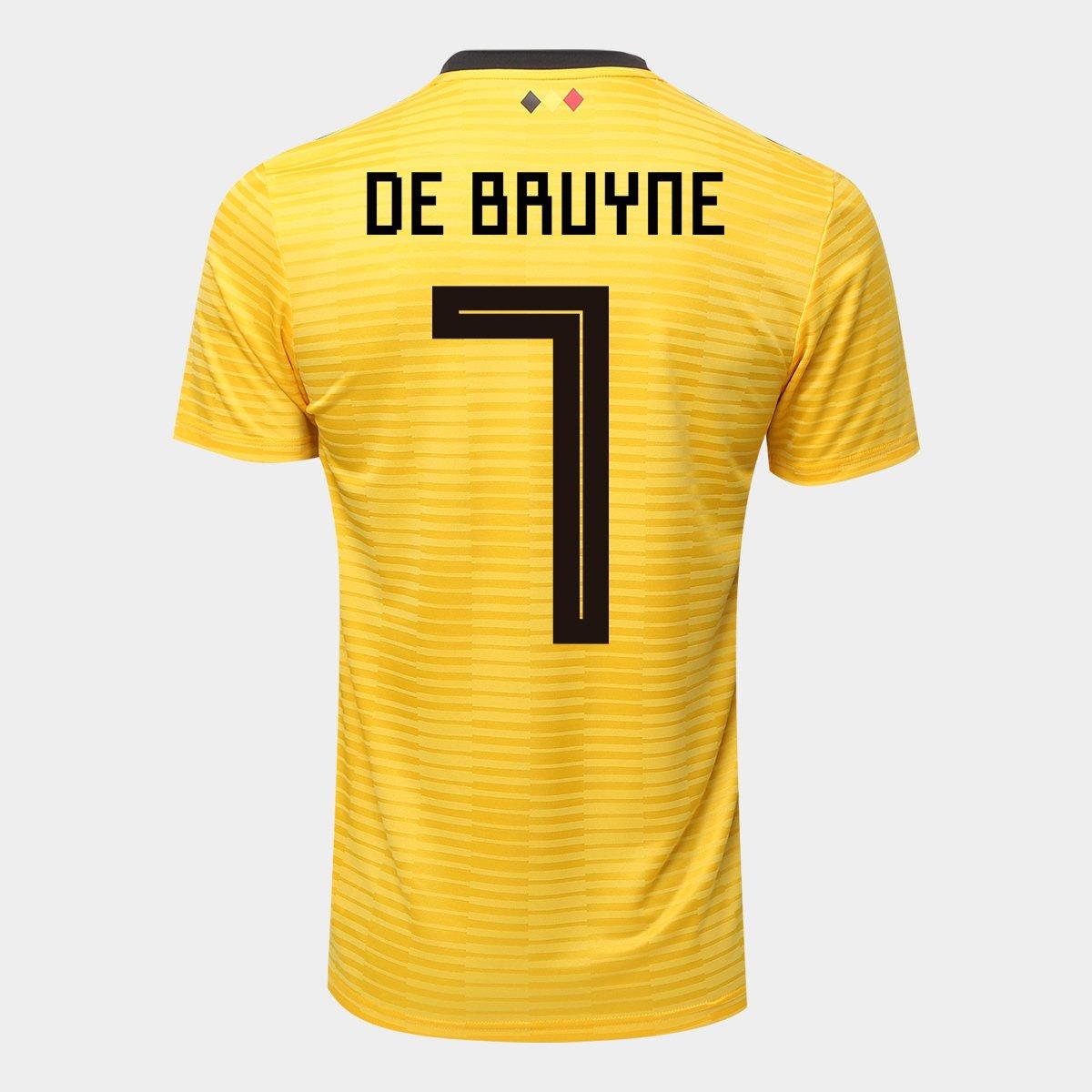 Camisa Seleção Bélgica Away 2018 n° 7 De Bruyne - Torcedor Adidas Masculina  ... 45d99f1a93115
