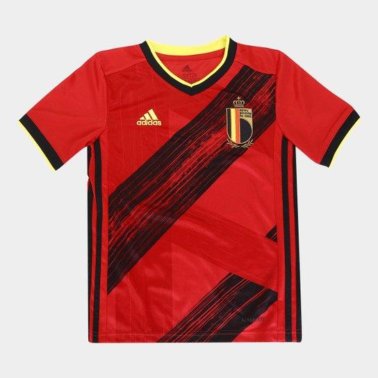 Camisa Seleção Bélgica Infantil Home 20/21 s/nº Adidas - Vermelho